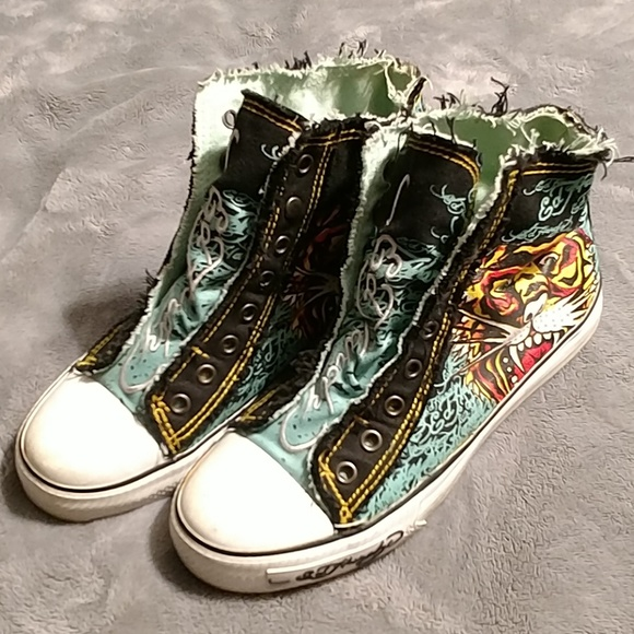 Ed Hardy Shoes   High Top Shoes By Ed